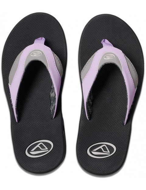 59e9173773a5 Reef Fanning Flip Flops in Grey Purple