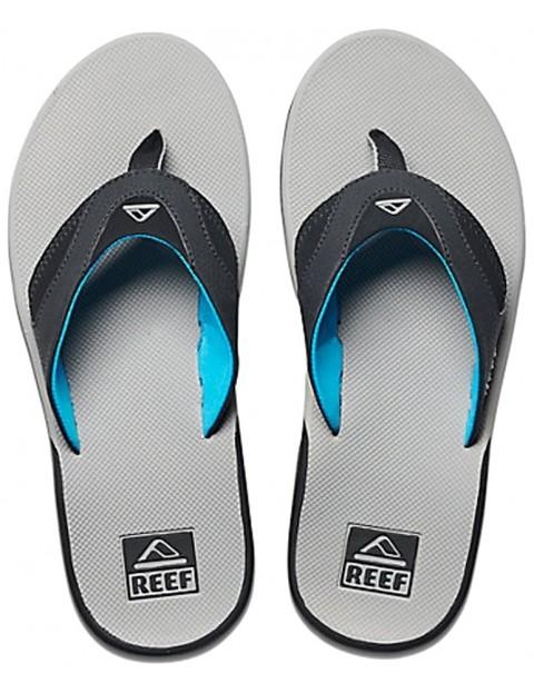 d0b0eb182194 Reef Fanning Flip Flops in Light Grey Blue