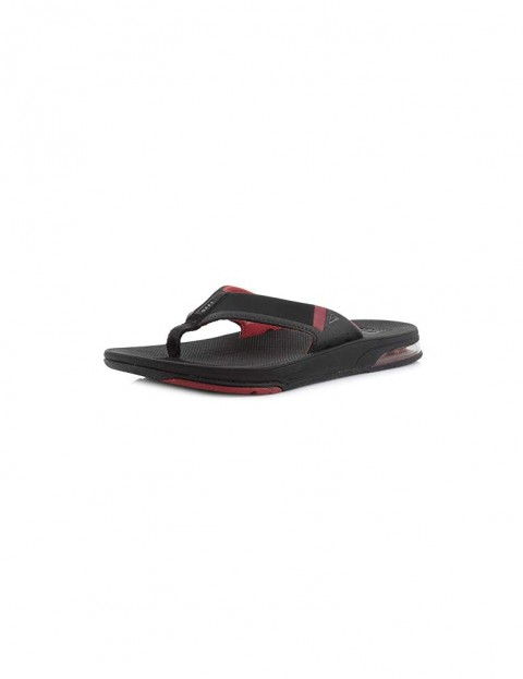 Reef Fanning Low Sandals in Black/Red