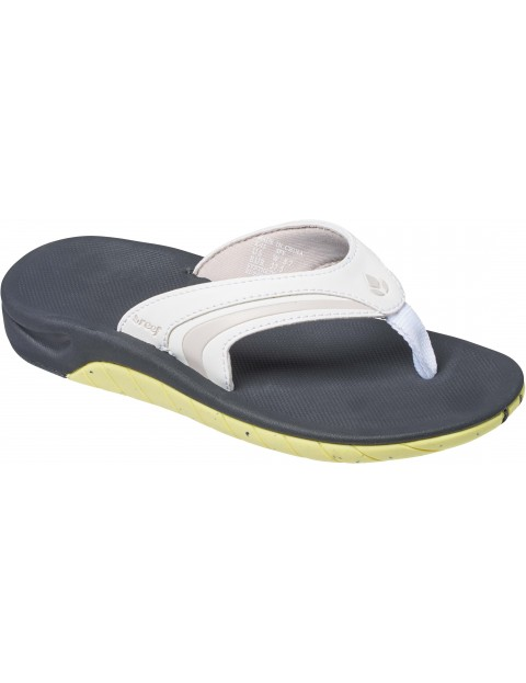 Reef Girls Slap 3 Sports Sandals in White/Lime