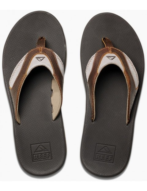 Reef Sandals 4 Leather In Fanning Brownbrown wOPk8n0