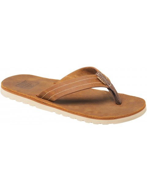 Reef Voyage Leather Sandals in Bronze Brown
