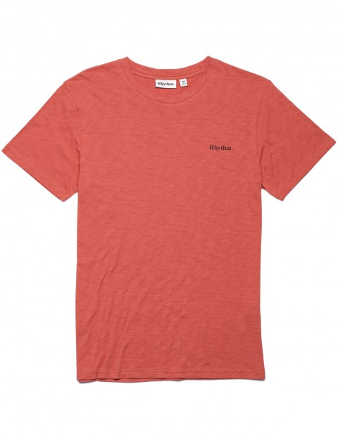 Rhythm Flag Short Sleeve T-Shirt in Dusted Red