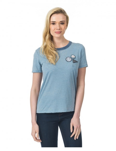 Rip Curl Baywood Ss Tee Short Sleeve T-Shirt in Flint Stone