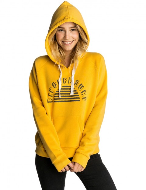 Rip Curl Blocked Hooded Pullover Hoody in Jurassic Gold