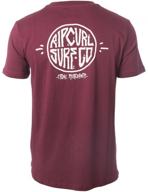 Rip Curl Stoke Merchants Arty Short Sleeve T-Shirt in Tawny Port