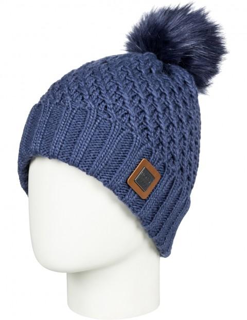 Roxy Blizzard Bobble Hat in Crown Blue