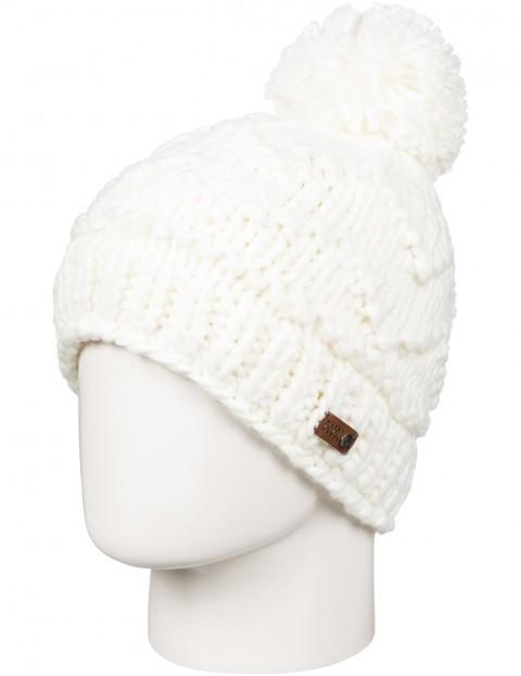 Roxy Winter Bobble Hat in Bright White