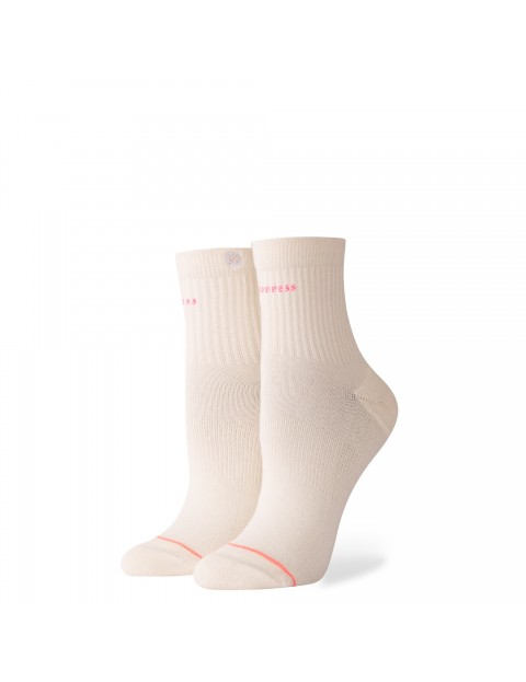 Stance Complex Ankle Socks in Off White