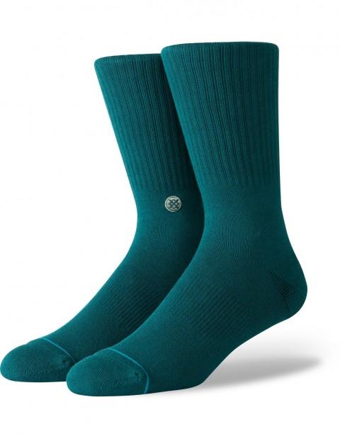 Stance Joven Crew Socks in Neon Turquise