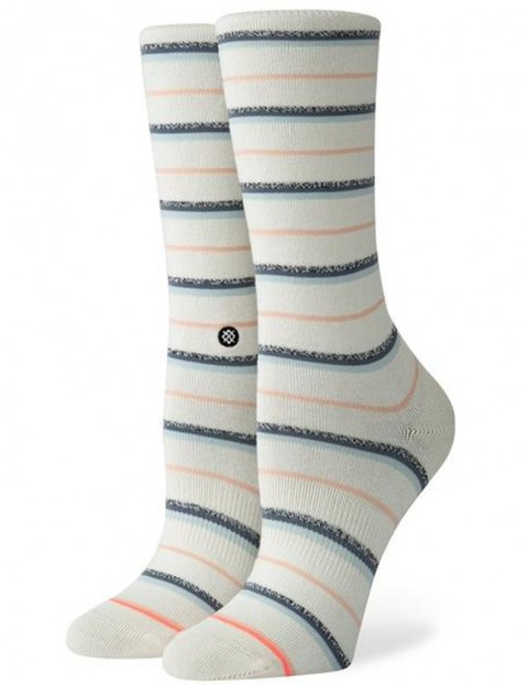 Stance Snazzy Crew Socks in Off White