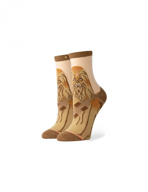 Stance Star Wars Chewbacca Monofilament Ankle Socks in Brown