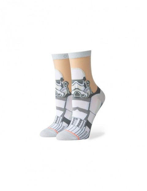 Stance Star Wars Storm Trooper Monofilament Ankle Socks in White