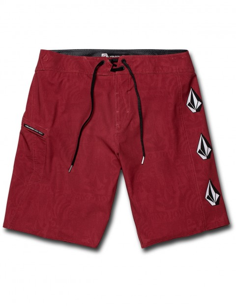 76c8cc6a95 Volcom Deadly Stones 20 Mid Length Boardshorts in Burgundy | hardcloud.com