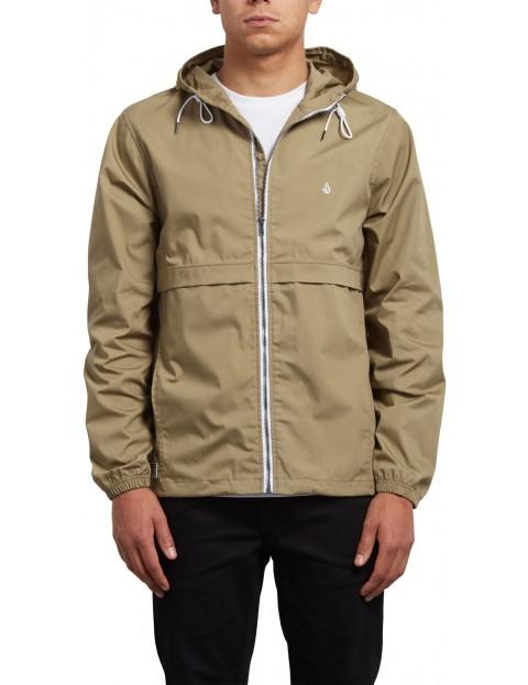 Volcom Howard Hooded Jacket in Sand Brown