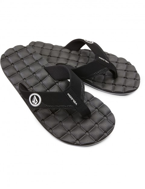 f1bb87837cafe9 Volcom Recliner Flip Flops in Black White