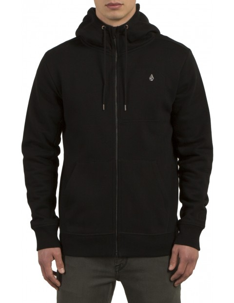 Volcom Single Stone Zipped Hoody in Black