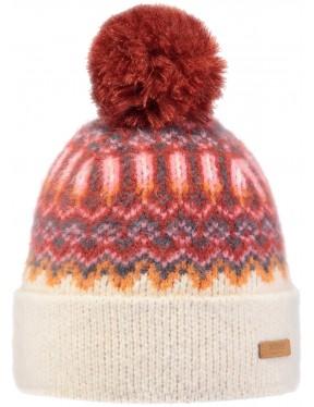 Barts Drew Bobble Hat in Cream