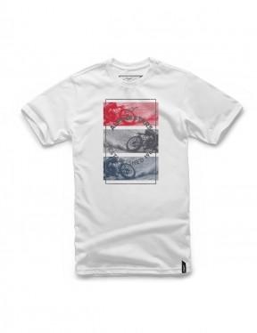 Alpinestars Burnt Short Sleeve T-Shirt in White