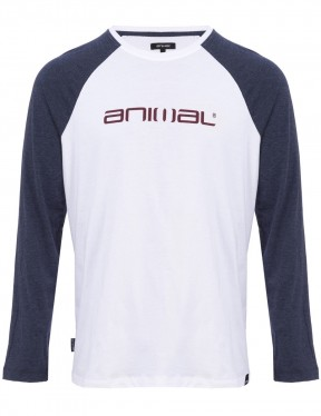 Animal Action Long Sleeve T-Shirt in White