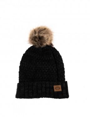 Animal Becki Bobble Hat in Black