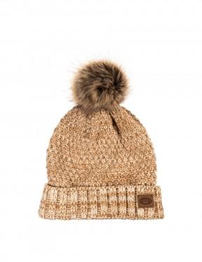 Animal Becki Bobble Hat in Tannin Cream