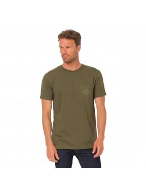 Animal Tez Short Sleeve T-Shirt in Dark Navy Marl