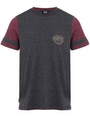 Animal Delano Short Sleeve T-Shirt in Dark Charcoal Marl