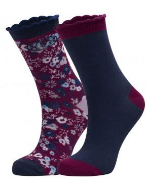 Animal Ditsy Olivia Socks in Ink Blue