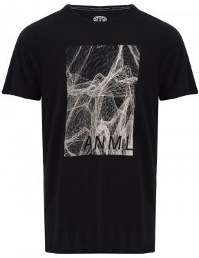 Animal High Short Sleeve T-Shirt in Black
