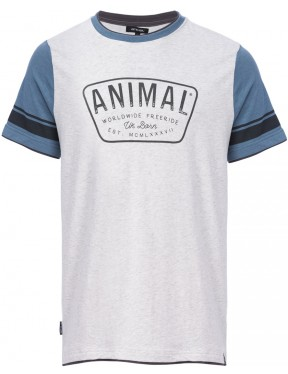 Animal Hoops Short Sleeve T-Shirt in Light Grey Marl