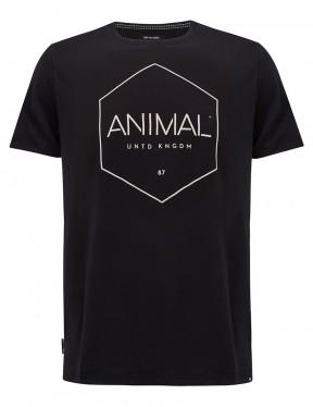 Animal Longtide Short Sleeve T-Shirt in Black