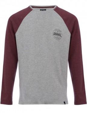 Animal Mark Long Sleeve T-Shirt in Grey Marl
