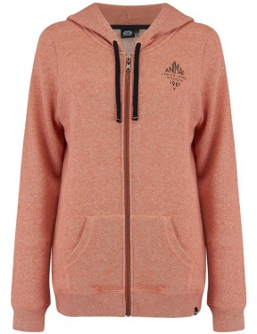 Animal Palmira Zipped Hoody in Terracotta Red Marl