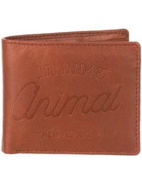 Animal Peako Leather Wallet in Brown