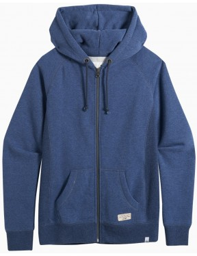 Animal Roo Zipped Hoody in Dark Navy Marl