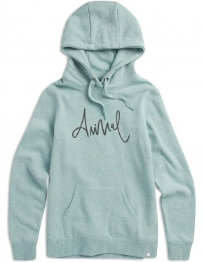 Animal Sketched Pullover Hoody in Blue Haze Marl