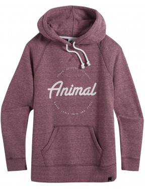 Animal Speckles Pullover Hoody in Woodrose Pink Marl