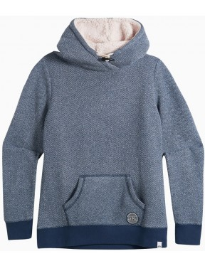 Animal Stitched Pullover Hoody in Dark Navy