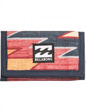 Billabong Atom Polyester Wallet in Navy