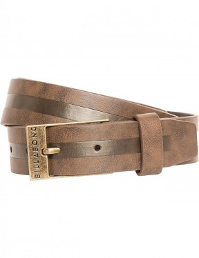 Billabong Bower Faux Leather Belt in Java