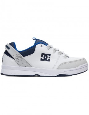 DC Syntax Trainers in White/Grey/Blue