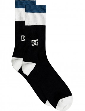 DC To Me Two Crew Socks in Black