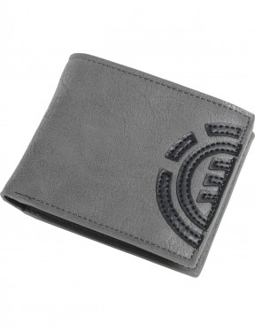 Element Daily Faux Leather Wallet in Stone Grey