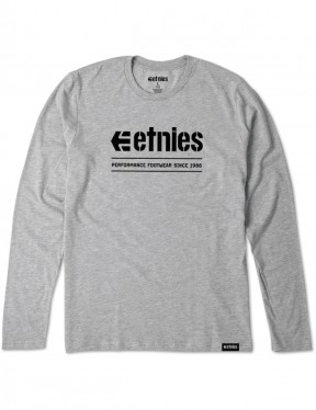 Etnies Alters Long Sleeve T-Shirt in Grey Heather