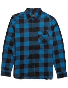 Etnies Axel Flannel Long Sleeve Shirt in Blue / Black
