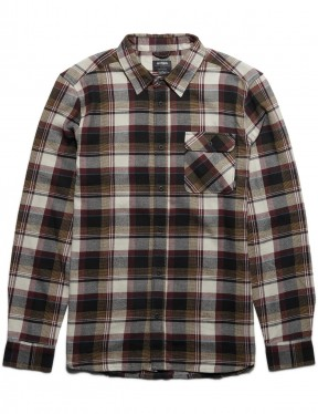 Etnies Axel Flannel Long Sleeve Shirt in Natural