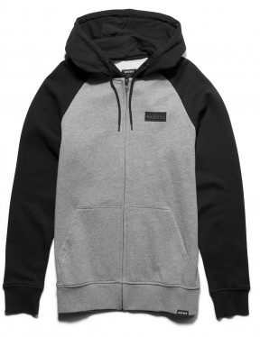 Etnies Core Icon Zipped Hoody in Black / Grey