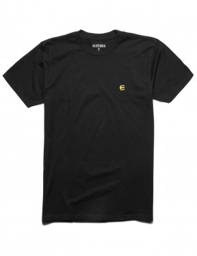 Etnies Icon Embroidery Short Sleeve T-Shirt in Black