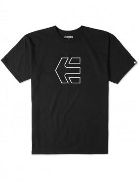 Etnies Icon Outline Short Sleeve T-Shirt in Black/White